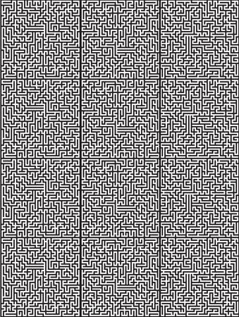 Maze background on plain presentation