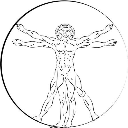 Vitruvian Man Иллюстрация