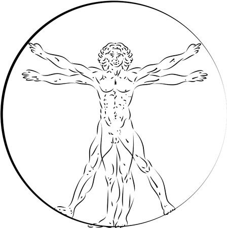 Vitruvian Man Çizim