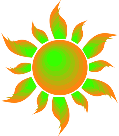 Sun graphic Illustration