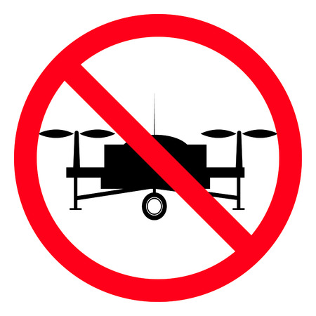 No Drones warning sign