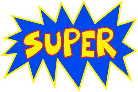 レタリングのスーパー ヒーロー