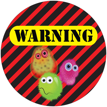 Germ warning sign