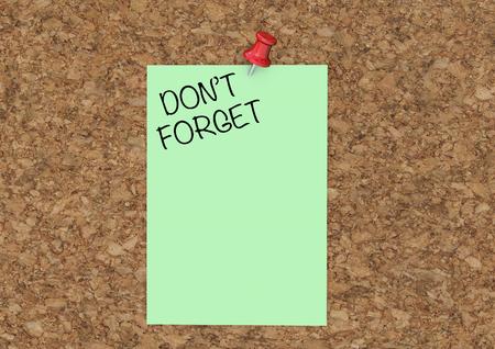 ポストノートを忘れないでください