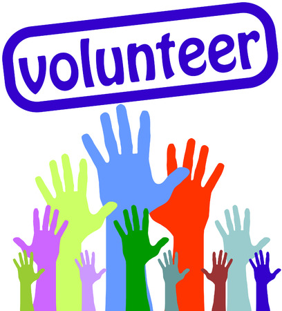Hands up Volunteer Illustration