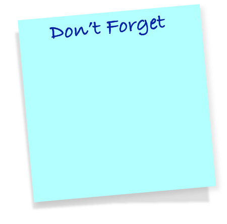 Don't Forget note Vector illustration.