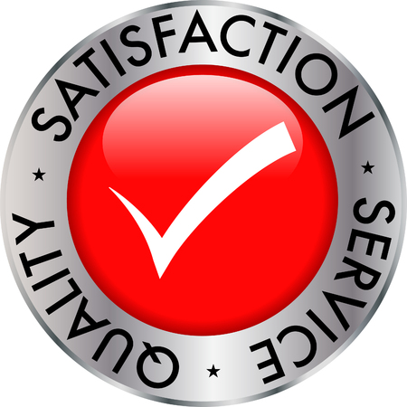 Satisfaction service quality check mark