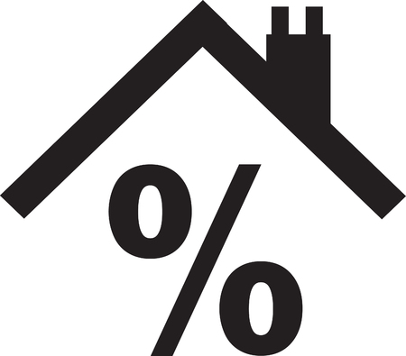 House roof with percentage sign