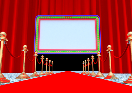 Red Carpet with screen