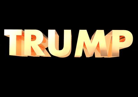 Trump 3D render Stock Photo