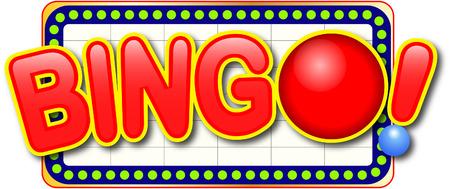Bingo icon in billboard Vectores