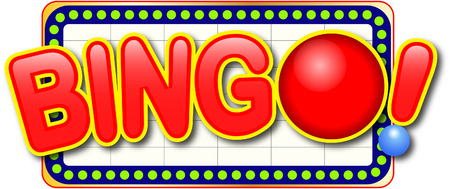 Bingo icon in billboard Illustration