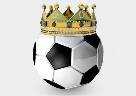Soccer Ball with crown Stockfoto
