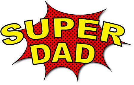 超级爸爸卡通风格插图。插图