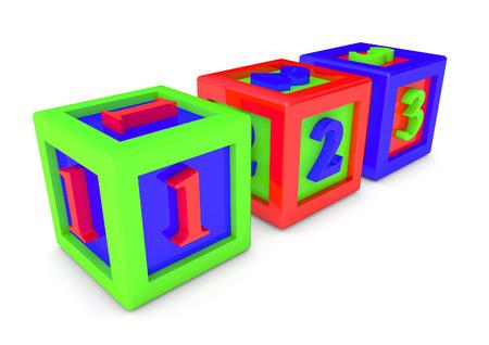 Childs Blocks ABC Stock Photo