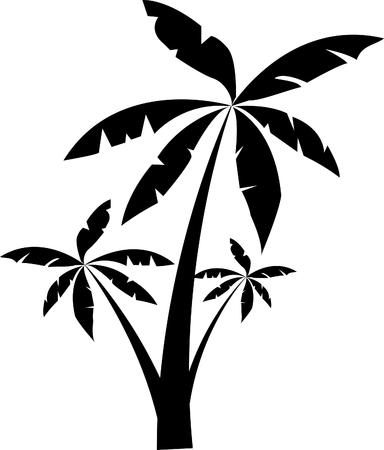 Palm Trees silhouette illustration.