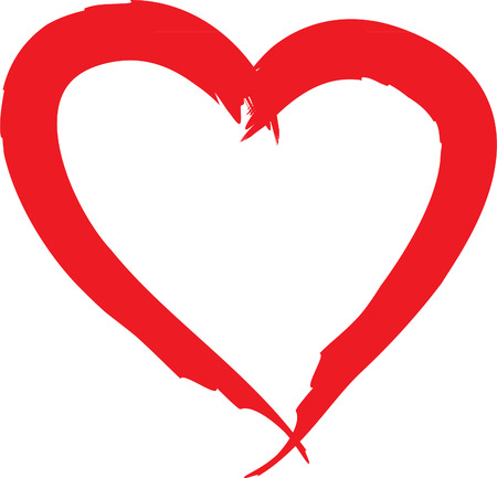 Grunge Heart drawing