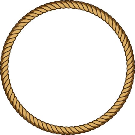 ロープラウンドフレーム  イラスト・ベクター素材