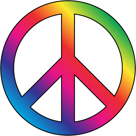 Peace colorful symbol