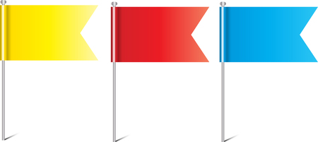 Small Colored flags