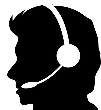 Call centre silhouette