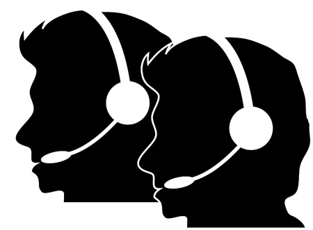 Call centre silhouette