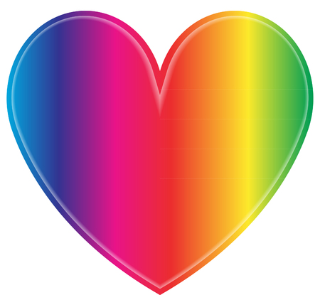 Rainbow heart Vectores