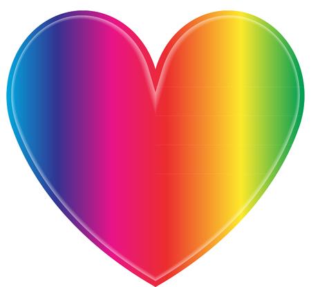 Rainbow heart Ilustração