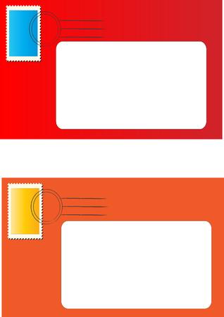 Blank address letters Stock Illustratie