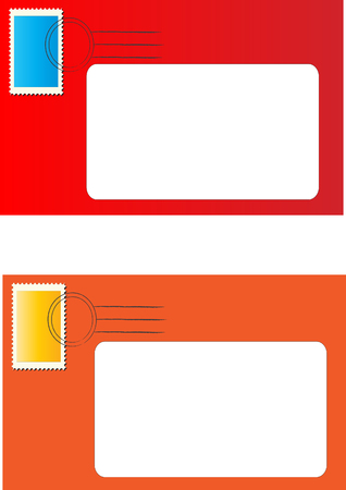 Blank address letters Illustration