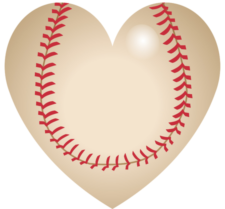 Baseball heart shape icon Illustration