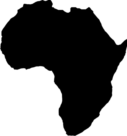 africa map silhouette Vector illustration. Illustration