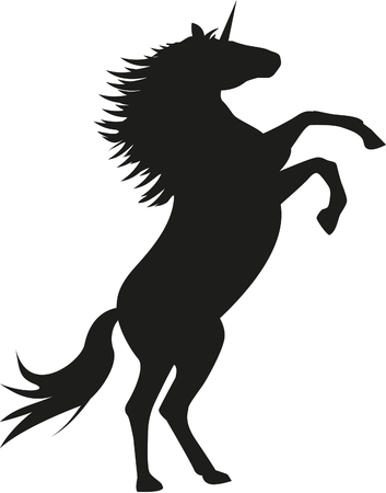 Unicorn silhouette Vector illustration.