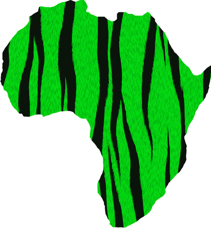 Africa silhouette with animal skin Vector illustration.