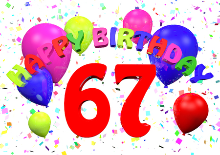 67 Happy Birthday  3D render