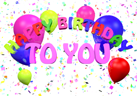 Happy Birthday to you 3D render