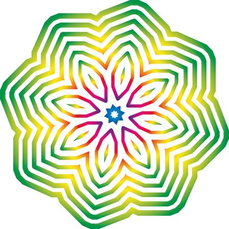 Graphic rainbow pattern Imagens - 106481701