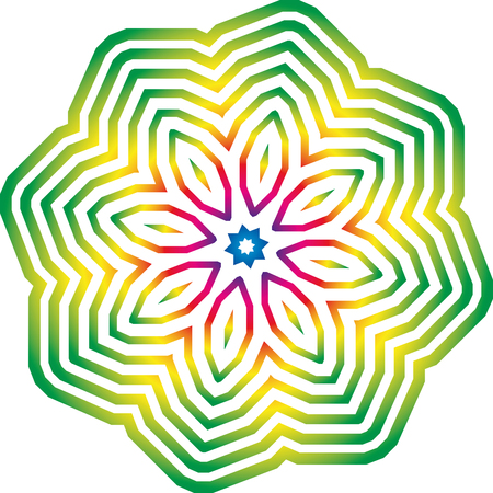 Graphic rainbow pattern