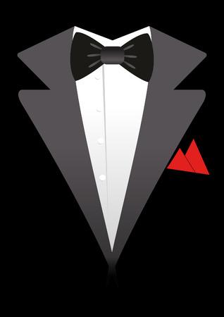 Tuxedo and bow tie illustration