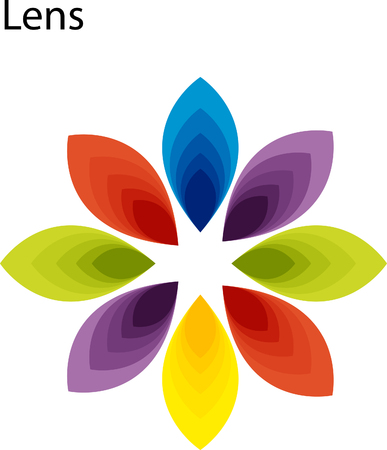 Petal design illustration isolated on white