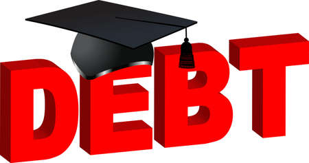 College Debt with morter board