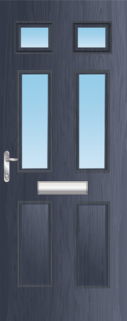 Front door architectural illustration Vector Illustration