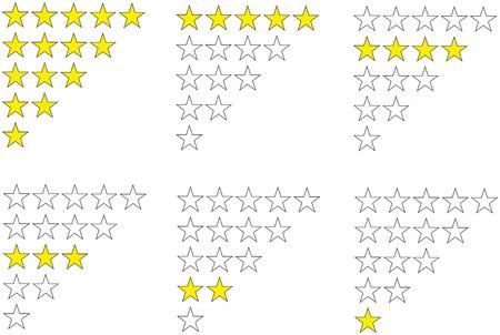 Star awards illustration isolated on white