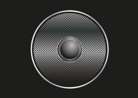 Speaker grill illustration Illustration
