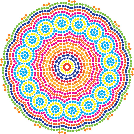 Circular Mosiac Pattern design