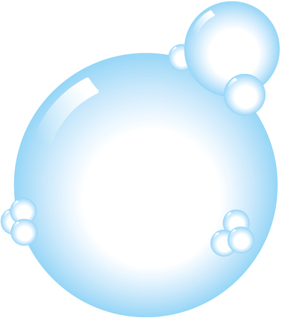 Bubbles illustration isolated on white