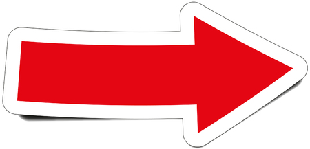Señalando la flecha roja Ilustración de vector