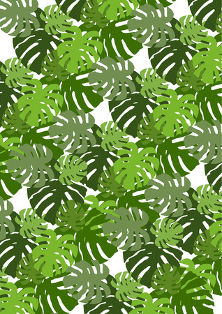 Swiss cheese leaves background Illustration