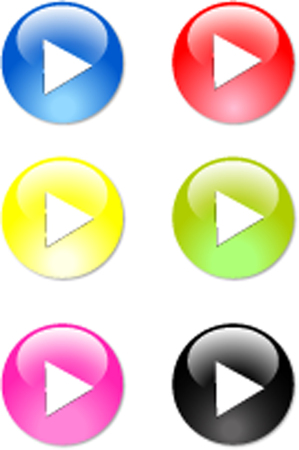 Computer play buttons 向量圖像