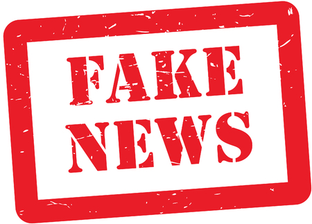 Fake News stamp Illustration